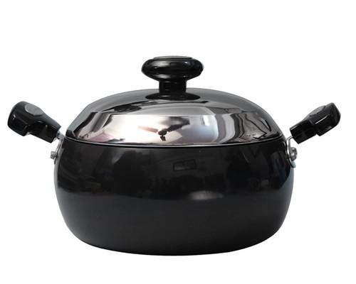 Prestige Hard Anodised Cookware Lifetime Induction Base Sauce Pan 240mm Black