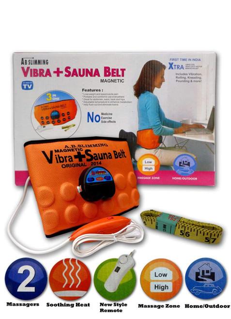 Sports Sauna + Vibra Ab Pro Slimming Belt 3 in 1