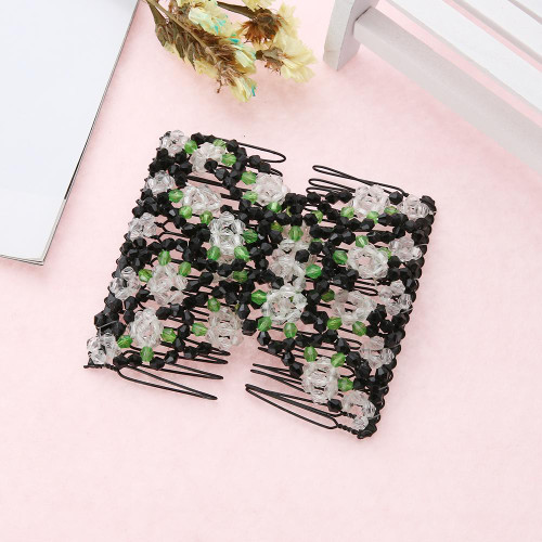 Hair Combs Double Magic Slide Metal Comb Clip Hairpins for Women Hair Accessories Gift