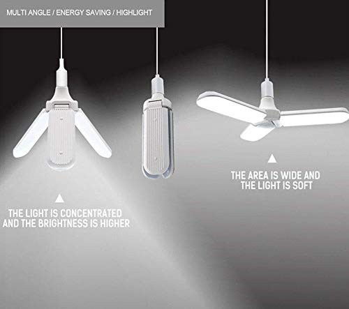 Foldable Fan Shape Blade LED Bulb