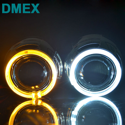 DMEX Q5 Perfect D2S Car HID Projector lens with Angel eyes 3.0 inch Bi Xenon projector lens Fit for H4-3  Car Light