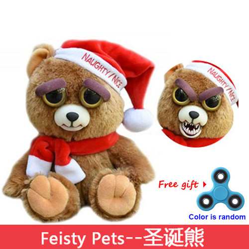 Newest Change Face Feisty Pets Plush Toys With Funny Expression Stuffed Animal Doll For Kids Cute Prank toy for Christmas Gift