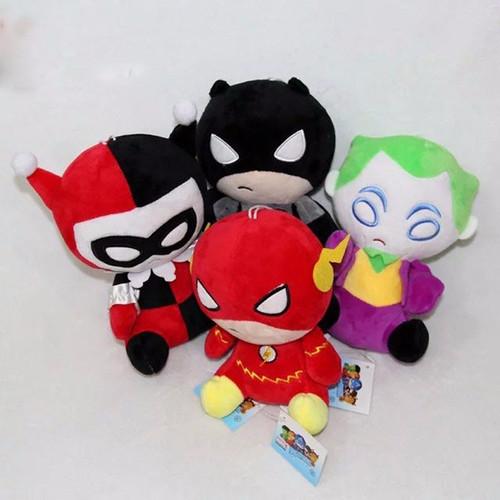 4 style 8 inch Comics Super Heroes Avengers Plush toys The Flash Batman Harley Quinn The Joker Plush Toys Soft Stuffed Dolls