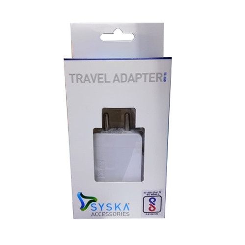 Original SYSKA Travel Adapter with Micro USB Charging Cable
