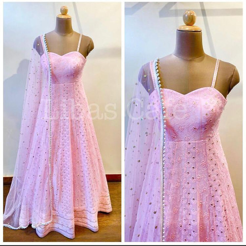 New 2021 Presenting Beautiful Top With Dupatta saree-Light Pink Saree