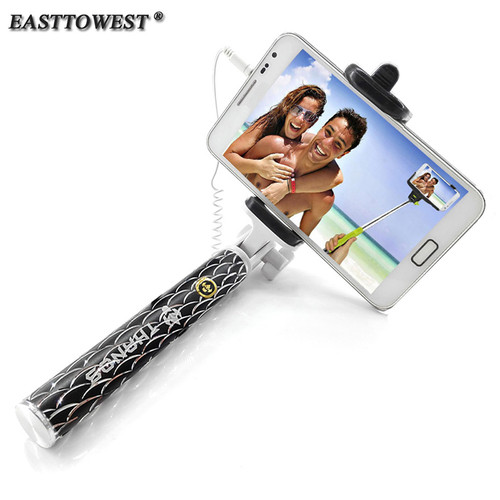 H520 Pro Extendable Handheld Selfie Stick Monopod Aluminum Palo Selfie for Iphone 7 6 plus 5s 4s Samsung Huawei Android
