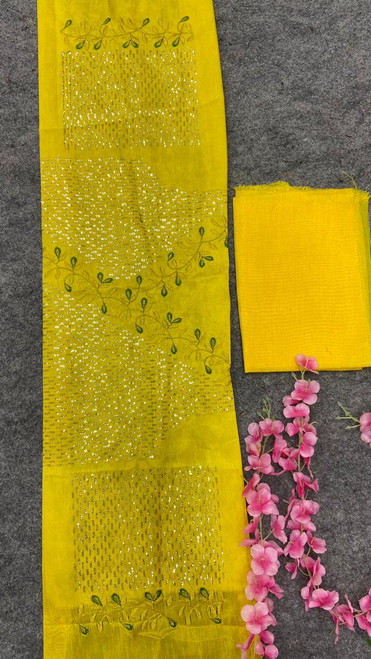 New 2021 Designer Embroidery Party Wear Yellow Lehenga Choli