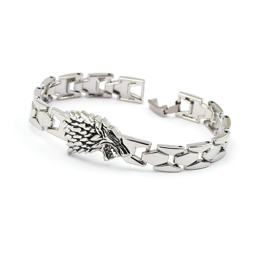 Game of Thrones Bracelet Song of ice fire Stark Chain Link Charm Bracelets Bangle Cosplay Jewelry Men Women pulseira masculina