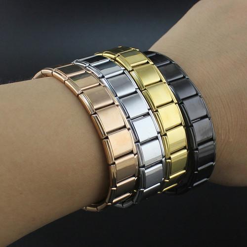 Hapiship 2018 Fashion Men Women's Jewelry 13mm Width Gold Silver Stainless Steel 20 Links Bracelet Bangle For Friend G003