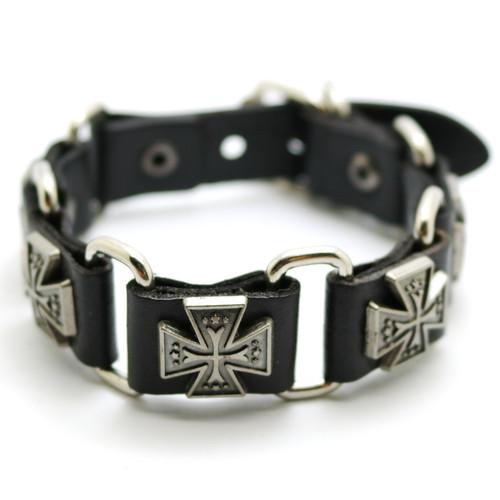 Janeyacy 2018 New Accessories For Men And Women  Retro Casual leather Bracelet Men Fashion Punk Bracelet Bracelet