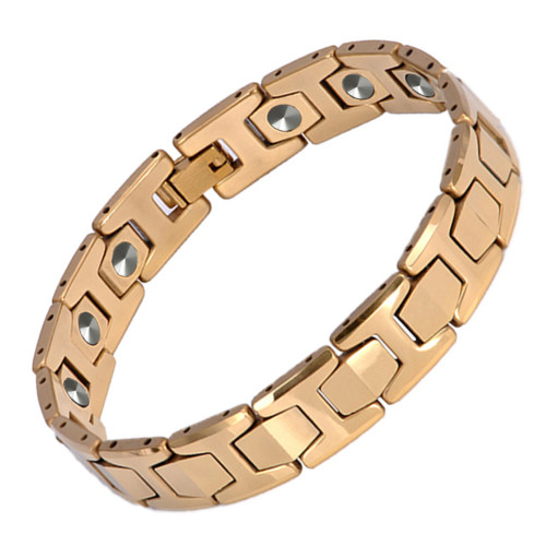 Hottime Luxury 15 PCS 99.9999% Germanium Bracelet Men Chain Link Health Energy Magnetic Tungsten steel Bracelets Bangle 10146