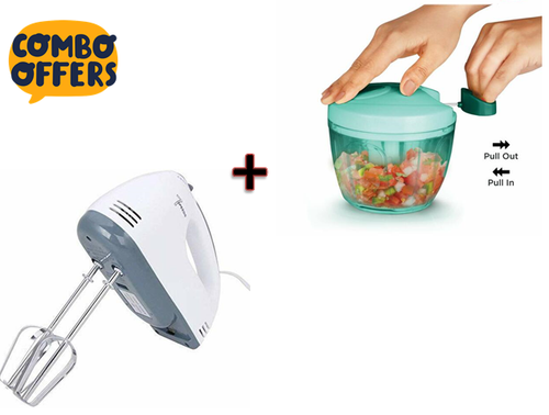Scarlett super hand mixer 7 speed hand blender With Miracle Big Vegetable Dori Chopper Combo Offer