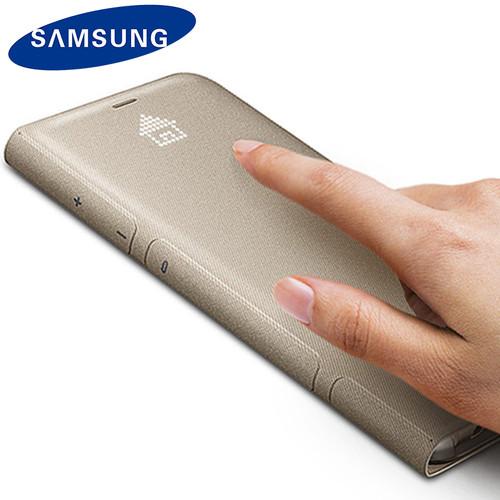 Original Samsung S8 S8 Plus LED Couro Case Flip Wallet Case Smart LED View Shockproof Samsung Case Cover