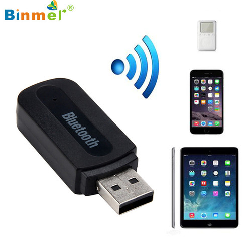 Binmer 2017 Free ship USB Bluetooth Music Receiver Adapter 3.5mm Stereo Audio For iPhone   Bluetooth Dongle Sep 13