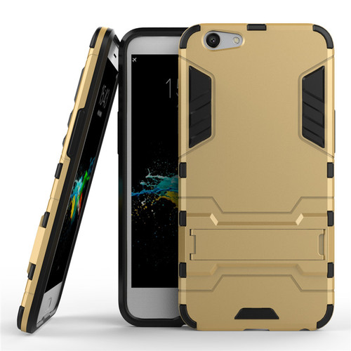 Shockproof Phone cases For OPPO F1s a59 Standing hard covers TPU+PC Armor Mobile phone Back covers with Shelf For OPPO A59 case
