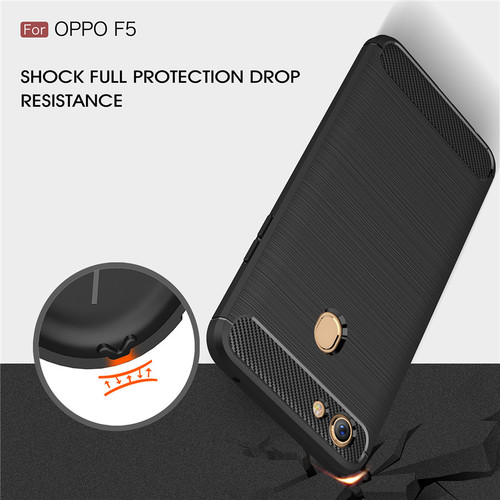For OPPO F5 Case For OPPO F5 Cover Luxury Carbon Fiber Back Cover for OPPO F5 Phone Cases for OPPO F5 Phone Back Shell
