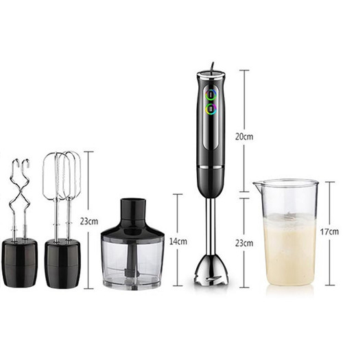 LUCOG 2018 Electric Hand Blender for Kitchen Multi-functional Food Processor 220V Stainless Steel Chopper Whisk Mixer Set