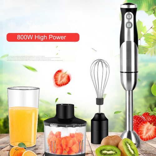 Multifunction 800W Hand Blender mixer Egg Whisk Mixer Slow Juicer Meat Grinder Food Processor