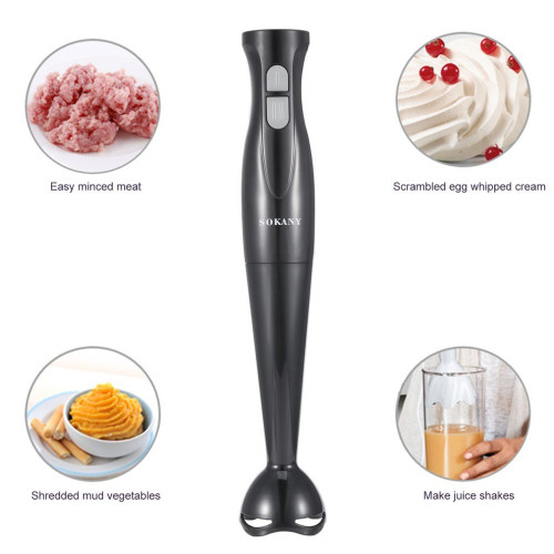 SOKANY Multifunctional Electric Handheld Blender Meat Grinder Food Processor SKY-1168 Household Babycook 200W Hand Agitator