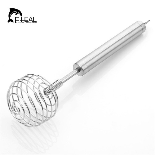 FHEAL 22cm Kitchen Stainless Steel Egg Beater Hand Blender For Baking Mixer Stiring Blender Cooking Tools Kitchen Appliances