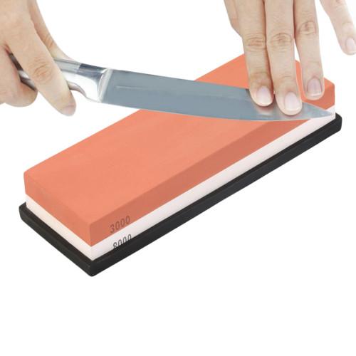 Water Stone Dual Whetstone Knife Sharpener Sharpening Flattening 3000# 8000#