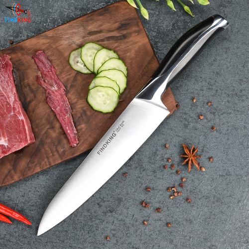 New top grade sharp knife 440c quality 8'' inch Frozen meat cutter Chef knife kitchen knife
