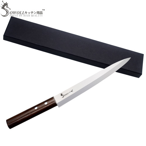 Professional Sashimi Kitchen Knife-8Inch High Quality Stainless Steel Knife + Gift Box Set / Japanese Style Sushi Knife Only