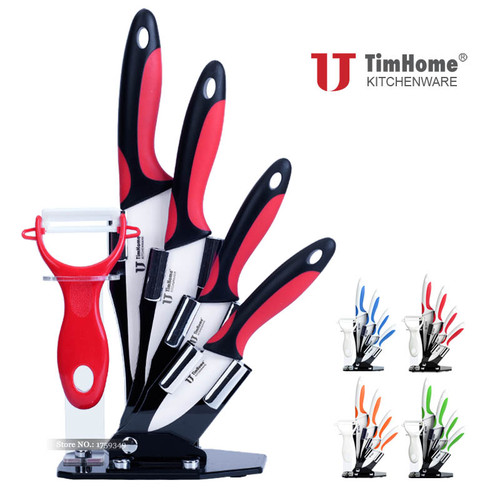 """Ceramic Knife set 3"""" 4"""" 5"""" 6"""" kitchen knife zirconia Paring Fruit Knife High quality Chef Knives cooking cutter for meat"""