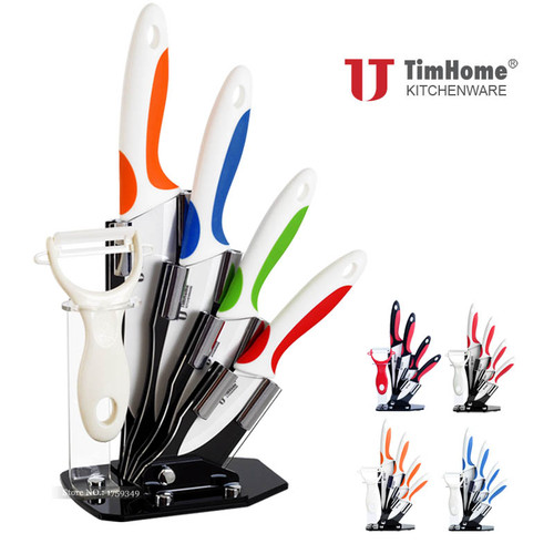 "Ceramic Knife set 3"" 4"" 5"" 6"" kitchen knife zirconia Paring Fruit Knife High quality Chef Knives cooking cutter for meat"