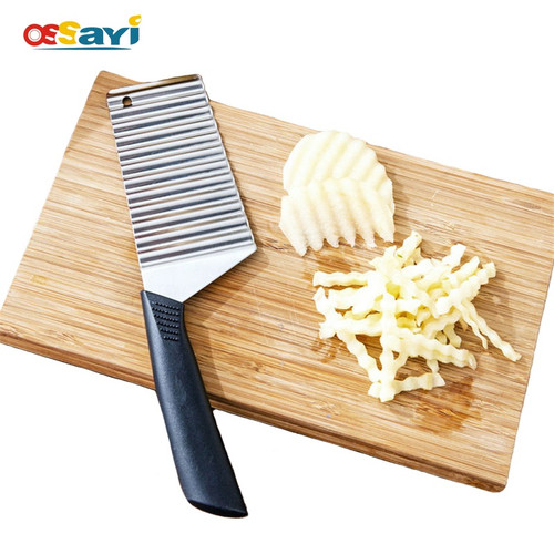 Fruit Knife Potato Wavy Knife Kitchen Gadget Cooking Tools Accessories Stainless Steel Vegetable Knife Potato Cutter Slicer