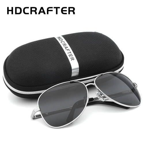 HDCRAFTER Aviator Sunglasses Men Polarized Sun Glasses For Men fashion UV400 driving outdoor sunglasses with box