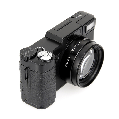 "MEMTEQ Digital Camera 3"" TFT LCD Full HD 24MP Digital Camera Video 1080P Camcorder CMOS Video Lens + Filter DSLR Camera"