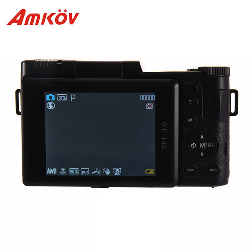 "2018 New AMKOV AMK-R2 3.0"" LCD 1080P HD Digital Zoom 24MP Digital SLR Self-timer Camera + Wide-angle Lens DSLR Camera Fast Ship"