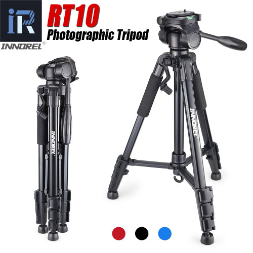 RT10 Aluminium Mini Portable Tripod for Digital DSLR camera Mirrorless light compact travel stand Pan head Cheaper than Q111