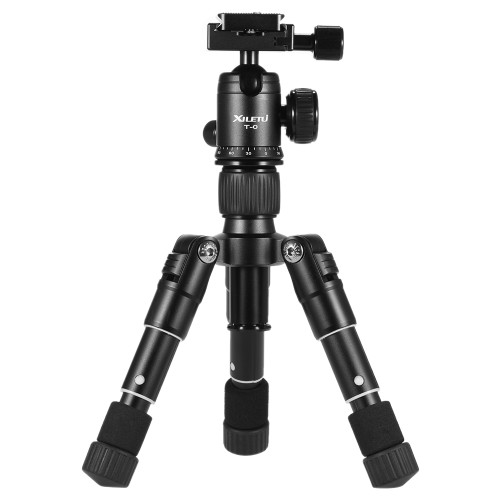 XILETU Lightweight Camera Tripod Compact Aluminum Tripod Desktop Mini Tripod with Ball Head for Canon Nikon DSLR Cameras