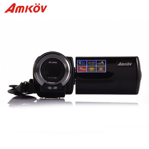 Amkov AMK-DV163 HD Camera 720P Digital Camera 2.7'' 16MP DV Video Camera Professional Cameras Support LED Fill Light with Cable