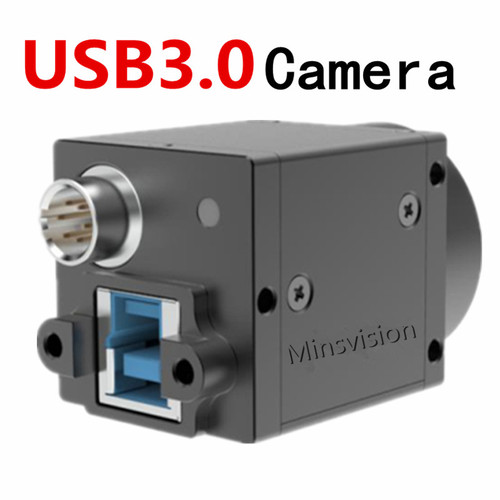 High speed USB3.0 industrial digital camera 1.3mp color global shutter external trigger Free SDK and measurement software