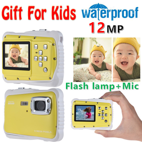 "2.0"" LCD 720P HD Mini Digital Camera 5MP Waterproof Portable Camcorder  w/ Built-in Microphone Best Gifts for Kids Boys Girls"