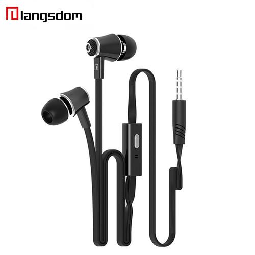 Wholesale 10pcs/lot Langsdom JM21 In-ear Earphone 3.5MM Stereo HIFI Earphones Super Bass Earbuds With Microphone