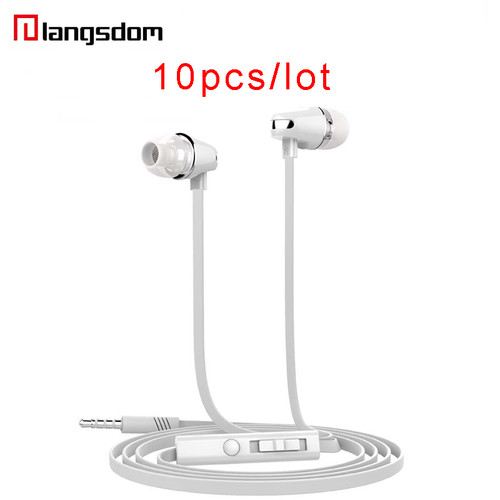 Wholesale 10pcs/lot Langsdom JV23 Earphone In-ear Earphone For Phone Stereo Super Bass Earbuds Wired Earphones With Microphone