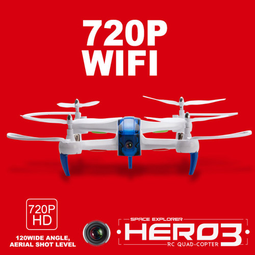 KEDIOR Hero 3 Multicopter Drone with Camera Live Video HD 720P FPV RC Quadcopter 13mins Flying Remote Helicopter Toys VS X8SW