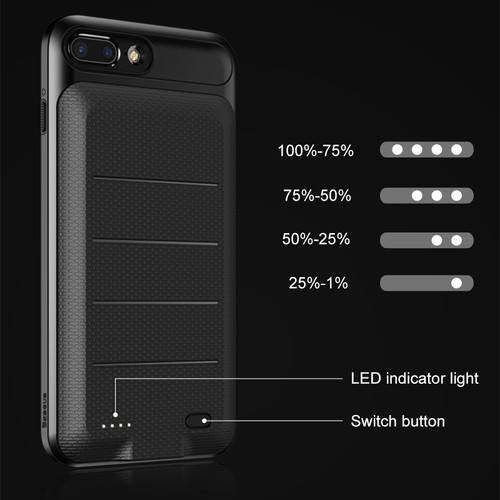 Baseus Battery Charger Case For iPhone 6 6s 7 Plus 2500/3650mAh Portable External Battery Backup Power bank Case for iPhone 7
