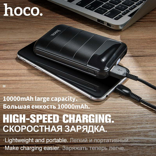 HOCO Power Bank 10000mAh Mini Dual USB LED Display Polymer External Battery Portable Charger Powerbank For iphone Xiaomi Samsung