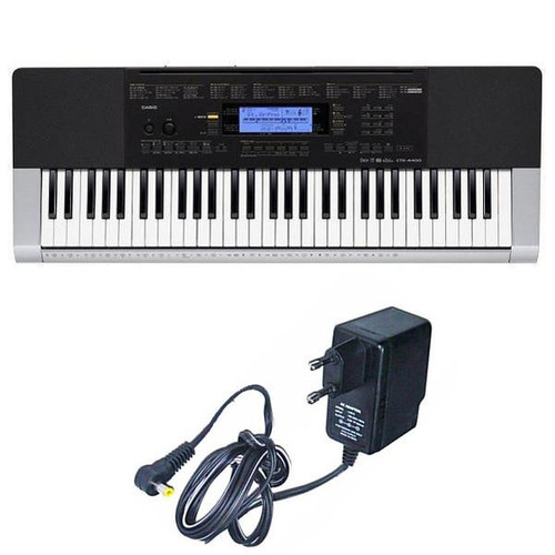 Casio CTK-4400 Electronic Keyboard, 61 Keys Full Keyboard with Adapter