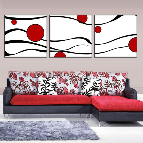 3 Pcs/Set Abstract Canvas Wall Art Canvas Prints Waves Wall Pictures for Living Room Canvas Painting 3 Pieces