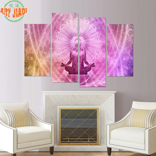 4 Piece/set or 5 Piece/set Canvas Art Chakras Buddha Paintings on canvas painting Decoration For Home Wall Art Print Canvas B127