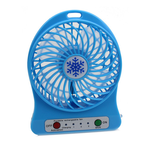 Portable Rechargeable LED Fan air Cooler Mini Operated Desk USB Fan for PC Laptop Computer Air Fan Without Battery