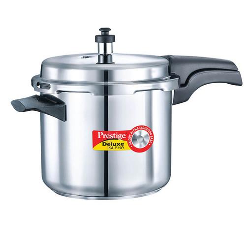 Prestige Deluxe Alpha Stainless Steel Pressure Cooker 4 Ltr