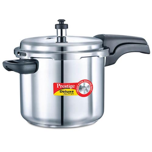 Prestige Deluxe Alpha Stainless Steel Pressure Cooker 5.5 Ltr