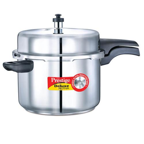 Prestige Deluxe Alpha Stainless Steel Pressure Cooker 8 Ltr